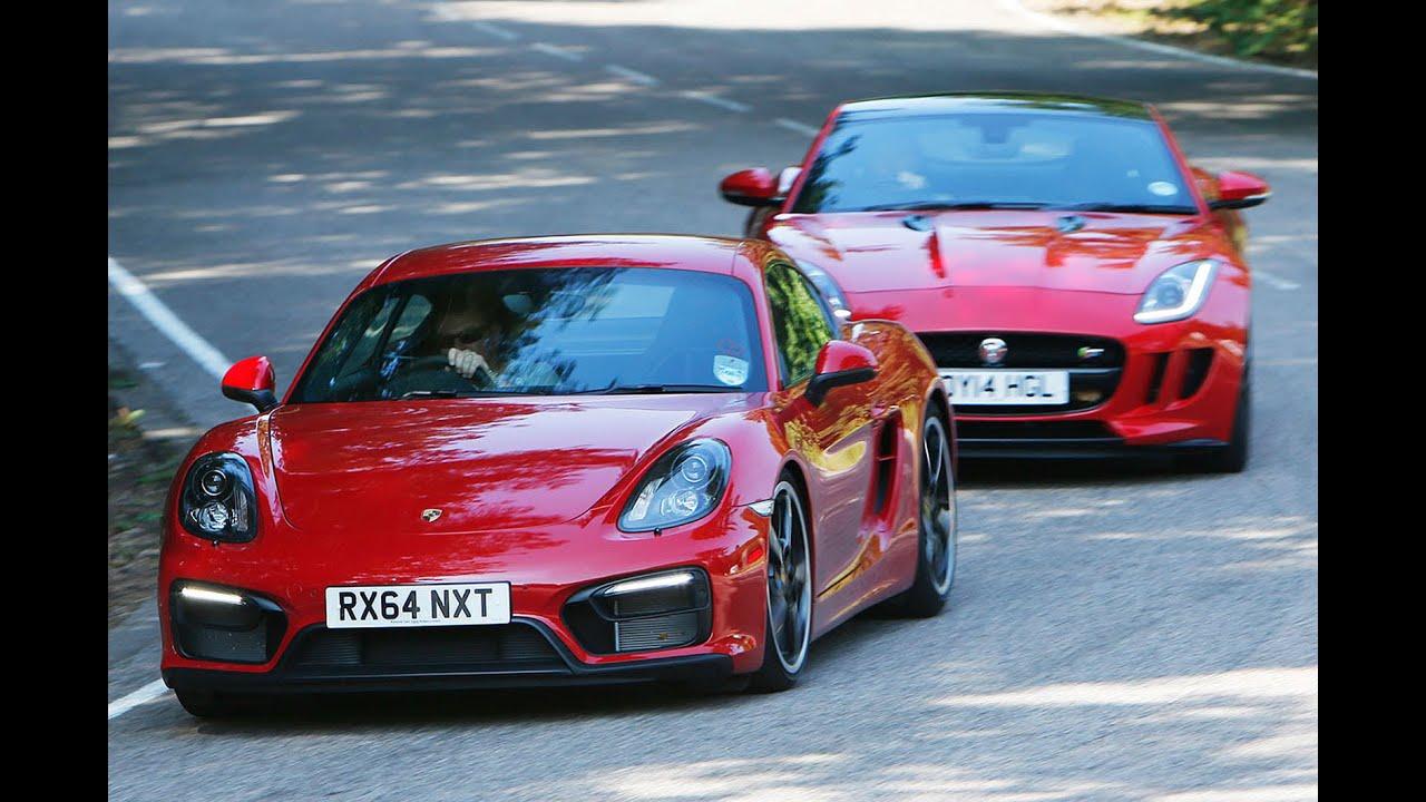 Jaguar F-type coupé versus Porsche Cayman GTS - YouTube