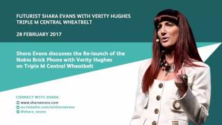Shara Evans on Triple M Central Wheatbelt 28 Feb 2017: Nokia Brick Phone
