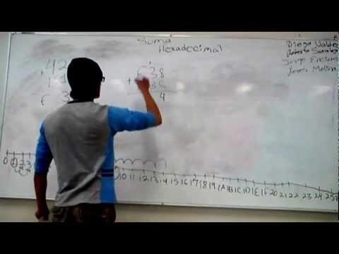 suma hexadecimal y resta de binarios