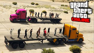Truck Jousting & Team Demo Derby! || GTA 5 Online || PC (Funny Moments!)