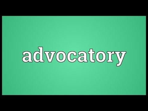 Header of advocatory