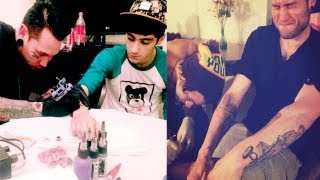 One Direction's Louise Tomlinson, Liam Payne & Zayn Malik get tattoos