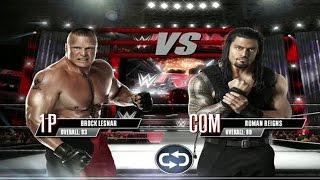 WWE 2K Mobile - Brock Lesnar vs Roman Reigns Gameplay [ HD ]