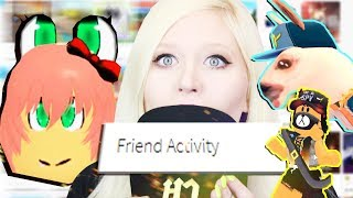 PLAYING THE 5 WEIRDEST GAMES in my ROBLOX FRIEND ACTIVITY!