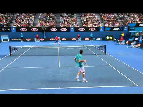 Best Tennis Game Ever ! Australian Open 2012 - Andy Murray vs. Michael Llodra