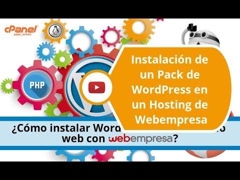 Instalación automática de un Pack de WordPress en un Hosting de Webempresa