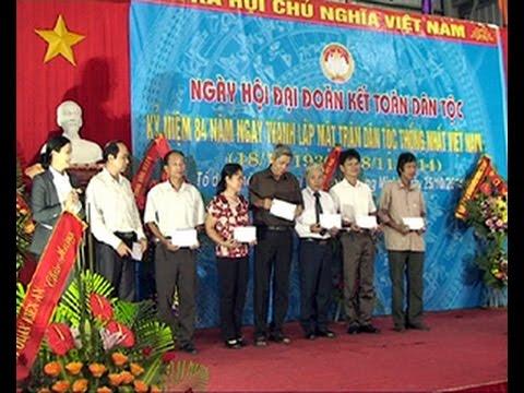 Tổ dân phố Minh Khai 2 phường Tràng Minh làm điểm ngày hội Đại đoàn kết dân tộc năm 2014