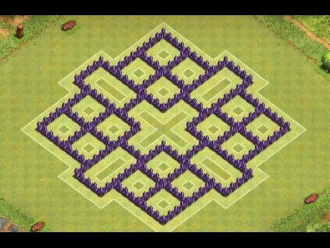 Clash of Clans - Town Hall 8 Awesome Farming Base! (4 mortors)