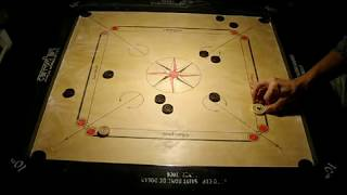 84. Good Carrom Break to Finish all the 19 coins, full carrom slam #4