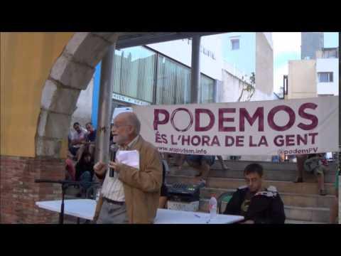 La Calamanda Conferència dArcadi Oliveres i Juan Carlos Monedero a Vinaròs