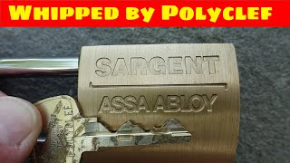 (1337) Whipped: Sargent Padlock with Hidden Trap Pin