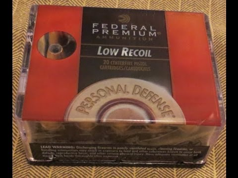 Federal Premium 9mm Luger- 135 Grain- Hydra Shok- JHP- Low Recoil- Personal Defense Ammo