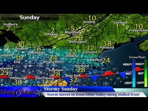 Major Winter Storm For Northeast Sun. & Mon. Jan 31, 2015