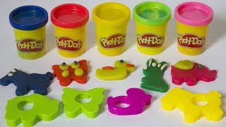 5 colors play doh Making Animals Molds surprise toys learn Colors - Best learn video for kids