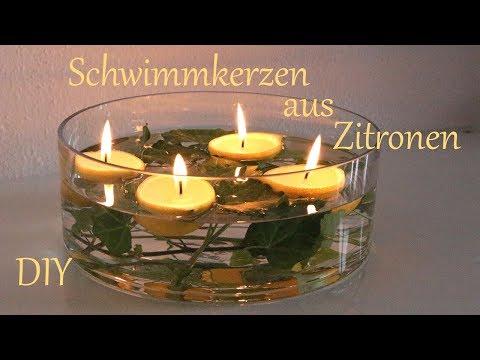 DIY   Schwimmkerzen aus Zitronen   Sommerdeko für die Gartenparty   Just Deko