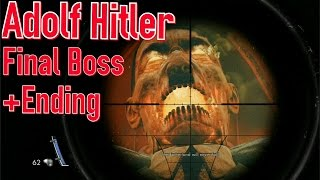 Zombie Army Trilogy: Adolf Hitler Final Boss + Ending ( PS4/1080p )