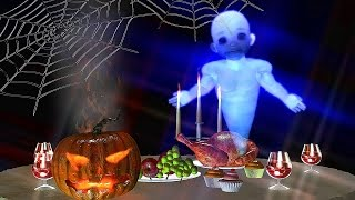 Halloween greetings video 👻 Ghost invites to Halloween party