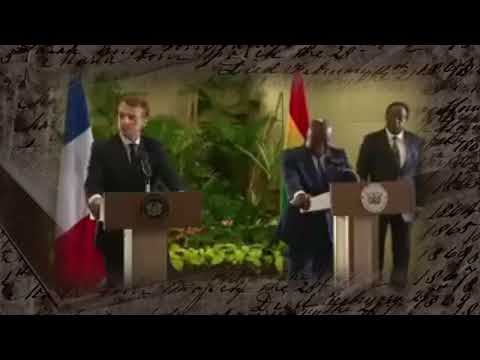African President of Ghana Embarrasses French President in speech & ends the conversation