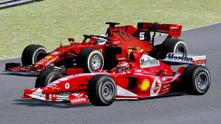 Ferrari F1 2019 vs Ferrari F1 2004 - Chinese Grand Prix