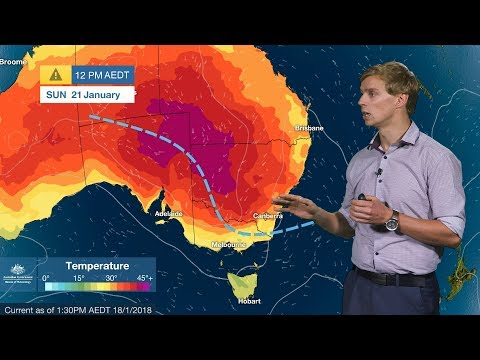 SEVERE WEATHER UPDATE: Hot weather, fire danger in SA and southeastern States, 18 Jan 2018