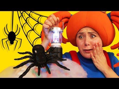 🎃 Хэллоуин! Царевна рассказывает страшилку про черного паука 🕷 Поиграйка  #Halloween 2018