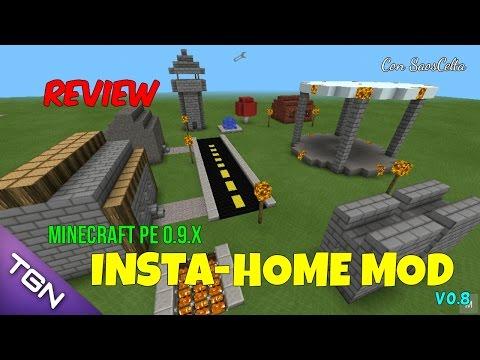 Instant-Home Mod   Minecraft PE 0.9.4