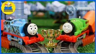 Thomas VS Racing Percy! THOMAS AND FRIENDS THE GREAT RACE #247 TrackMaster Toy Trains for Kids