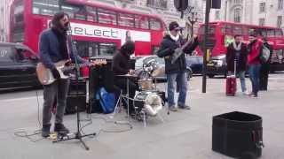 REM, Losing my religion - busking in the streets of London, UK