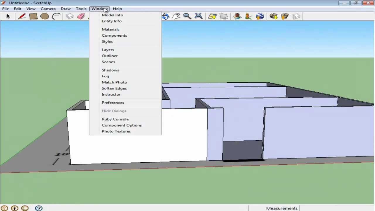 How To Model Objects With Floor Plans In Google Sketchup Youtube