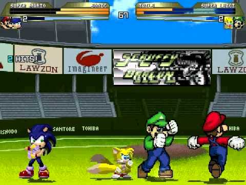 RGM MUGEN: Super Mario and Sonic vs Super Luigi and Tails