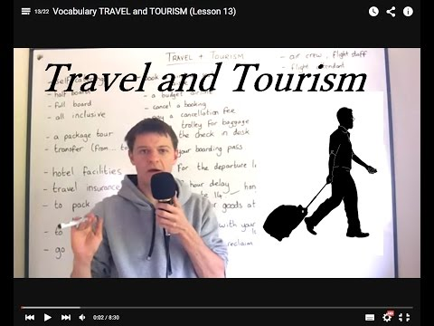 Vocabulary TRAVEL and TOURISM (Lesson 13)