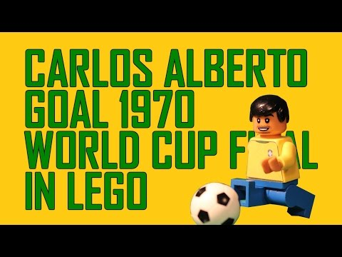 Carlos Alberto goal 1970 World Cup in Lego