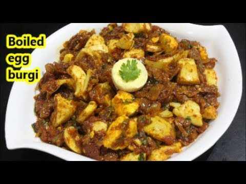 बनाइये spicy,tasty,masaledar BOILED ANDA BURJI/boiled egg burji/recipe in hindi
