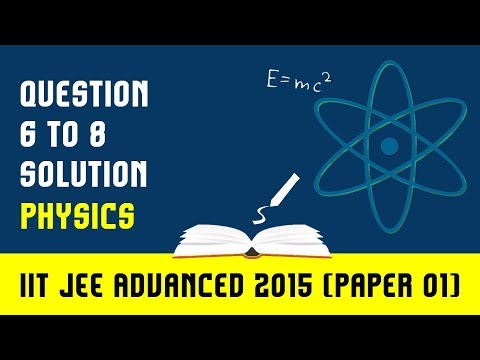 IIT- JEE Advanced Physics Paper I (Solutions for 6, 7, 8)