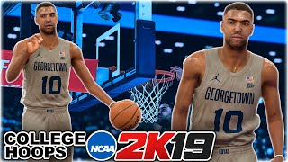 NCAA College Hoops 2K19 MyCareer #1 - First NCAA Game | CRAZY Ankle Breaker Makes Defender Fall!!