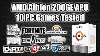 AMD 200GE APU 10 PC Games Tested - Awesome $55 CPU!