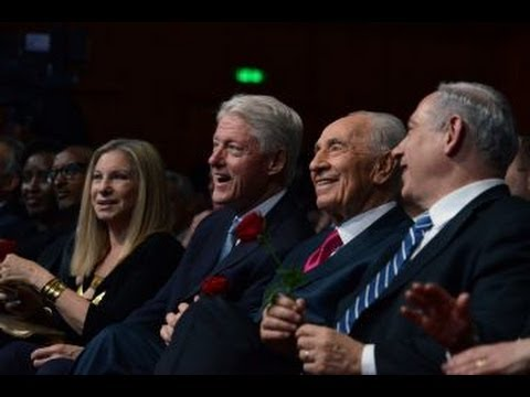 Shimon Peres feted by celebrities and leaders on 90th birthday