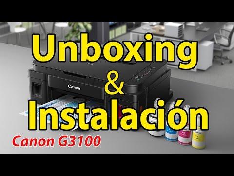 Canon G3100 - Unboxing & Instalación