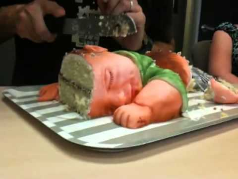 How To Make A Baby Being Born Cake