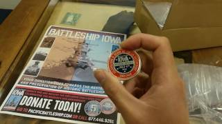 Pacific Battleship Center 5th Anniversary Challenge Coins!