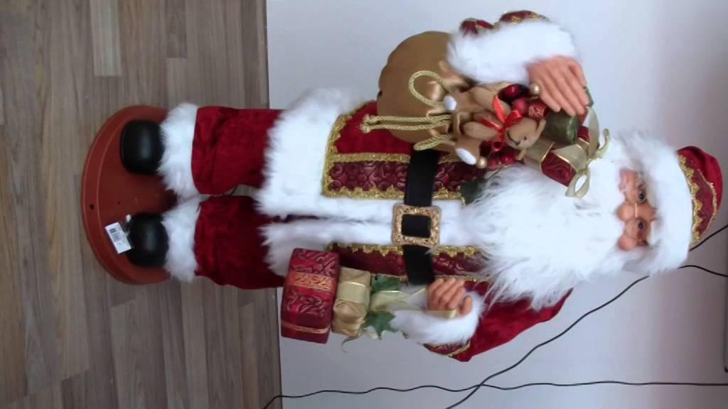 Automate Pere Noel Parachute Père Noël Automate Musical gm