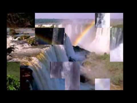 Радуга над водопадом,красивое зрелище!