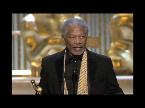 "Morgan Freeman winning an Oscar® for ""Million Dollar Baby"""
