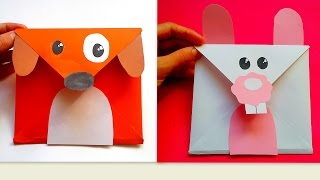 Tavşan ve Köpek Zarf Yapımı - How to make rabbit and dog envelope