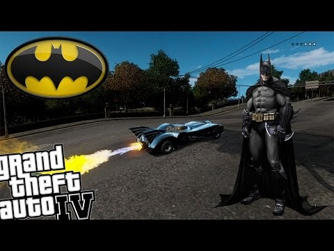 GTA IV Batman Mod - Awesome Batmobile with Real Weapons