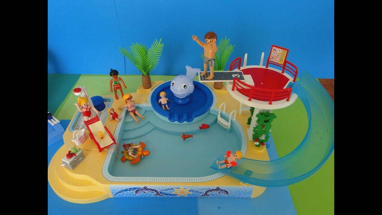 Playmobil piscine summer fun 2015 youtube for Piscine playmobile 4858