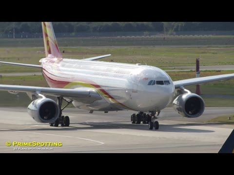 Hainan Airlines *new c/s* ► Airbus A330-300 ► Landing and Taxi ✈ Berlin Tegel Airport [Full HD]