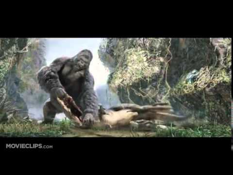 Огромная горилла против Ти-рекса