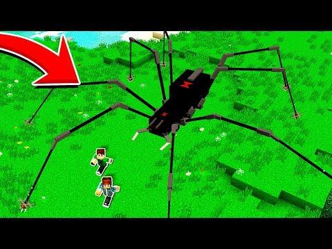 ENCONTREI UMA ARANHA GIGANTE NO MEU MINECRAFT !! - Minecraft Survival #47