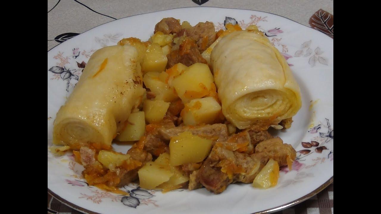 Рецепты штруделя с фото с мясом капустой и картошкой 2